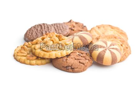 various types of sweet cookies