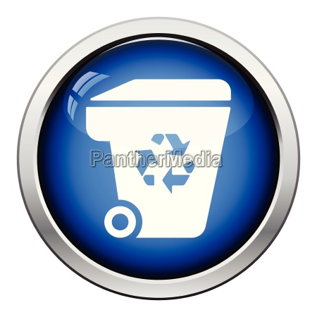 garbage container recycle sign icon