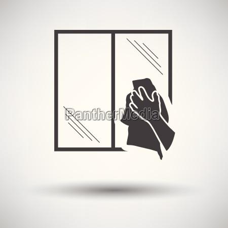 hand wiping window icon