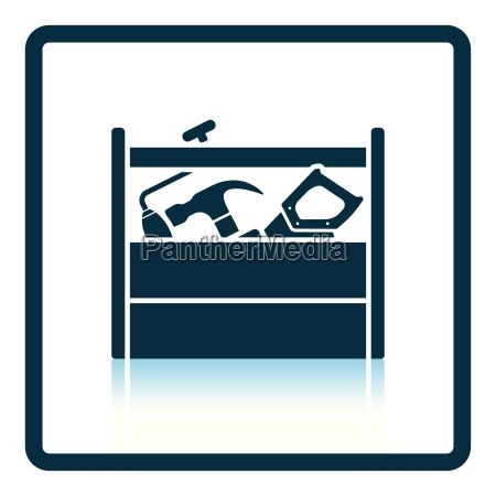 retro tool box icon
