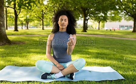 girl relaxing with fidget spinner