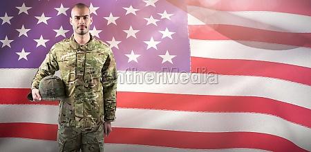 composite image of portrait of confident