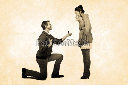 composite image of man offering engagement