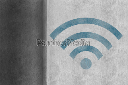composite image of wifi symbol
