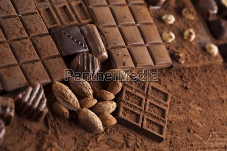 chocolate sweet cocoa pod and food