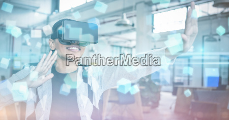 composite image of futuristic screen with