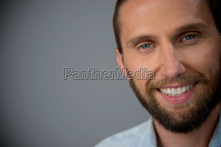 composite image of portrait of handsome