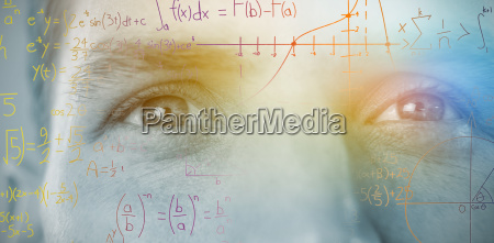 composite image of numbers and charts