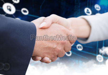 composite image of business people doing