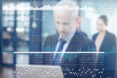 composite image of business interface with