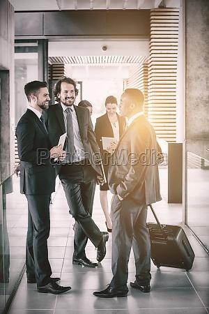 businessmen having conversation