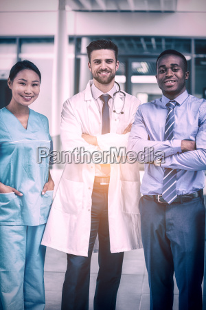 portrait of nurse and doctor with