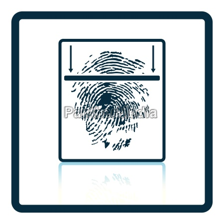 fingerprint scan icon