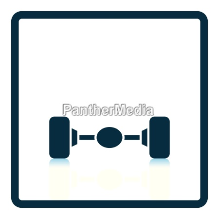 car rear axle icon