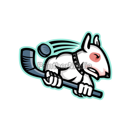 bull terrier ice hockey mascot