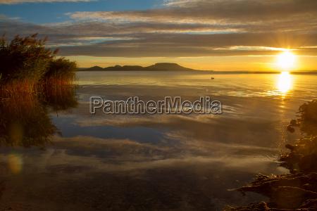 beautiful hungarian sunrise landscape from a