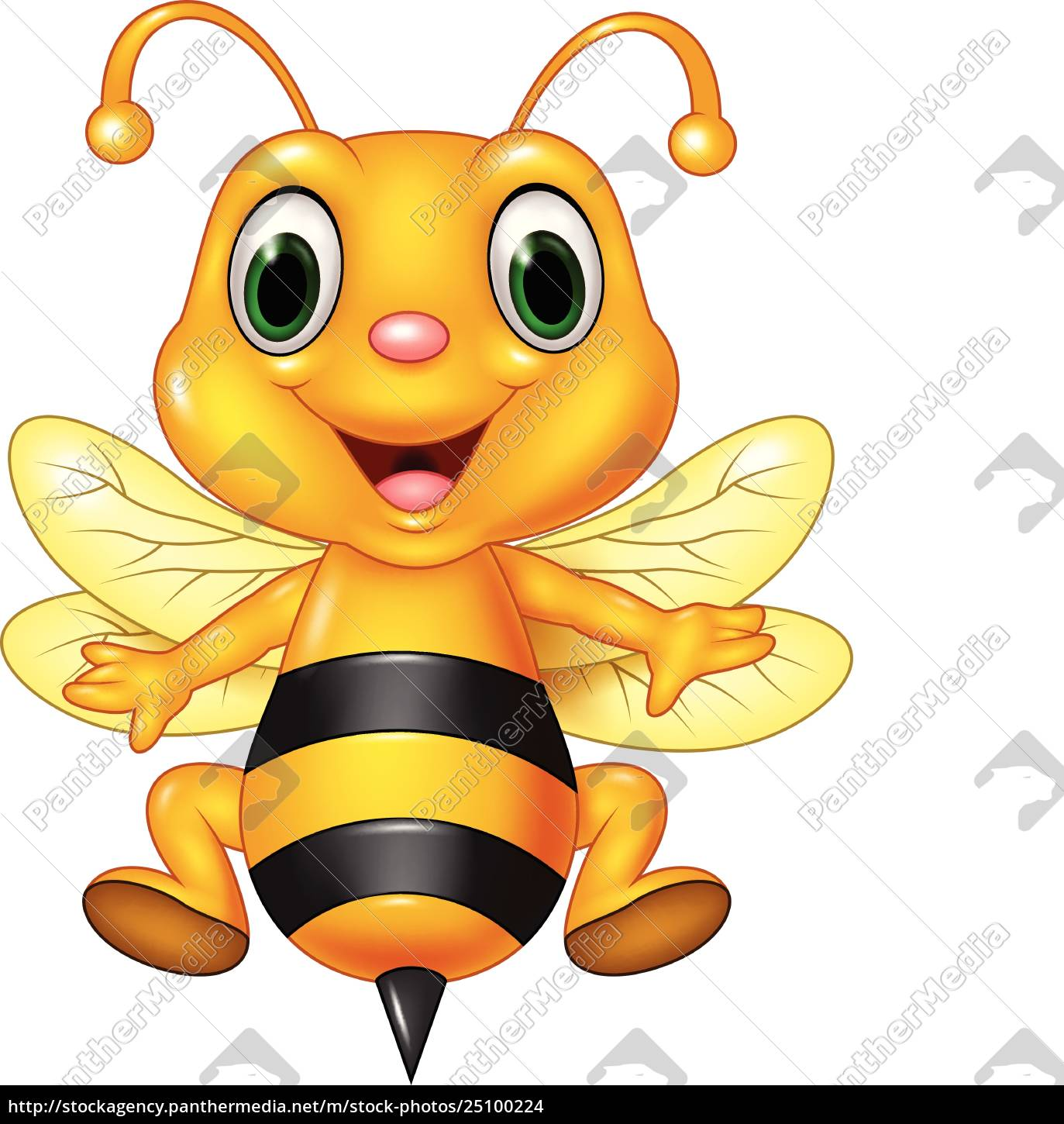 100 Pictures Cartoon Characters royalty free vector 25100224 - cartoon funny bee flying isolated on white  background
