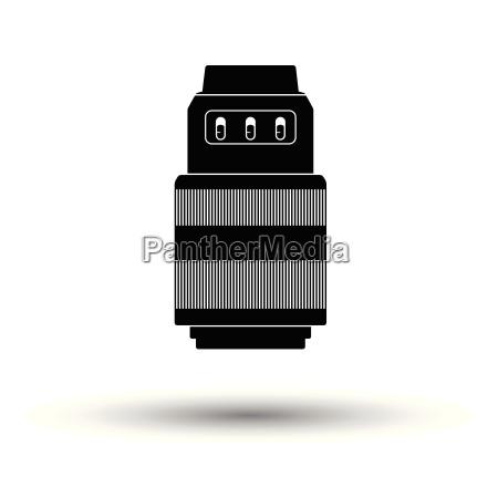 icon of photo camera zoom lens