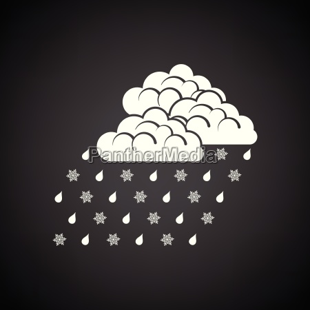 rain with snow icon