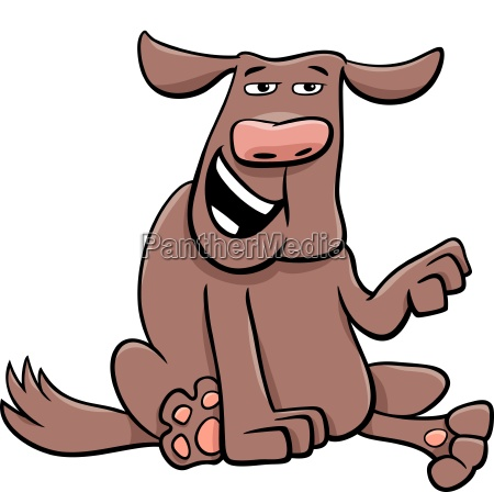 funny dog cartoon comic character