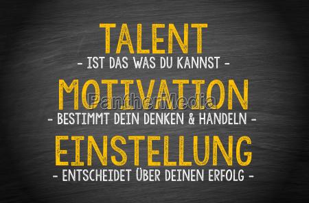 talent motivation attitude success