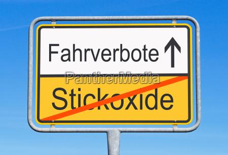 driving bans instead of nitrogen oxides