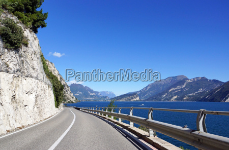 roads on lake garda in italy