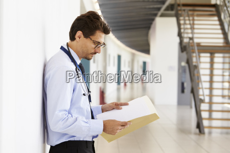 portrait of young male doctor with