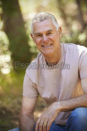 outdoor portrait of mature man in