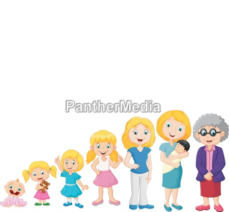 generations woman stages of development woman