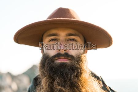 italy sardinia portrait of bearded man