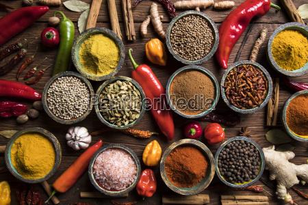 spice, still, life, , wooden, bowl - 25121910