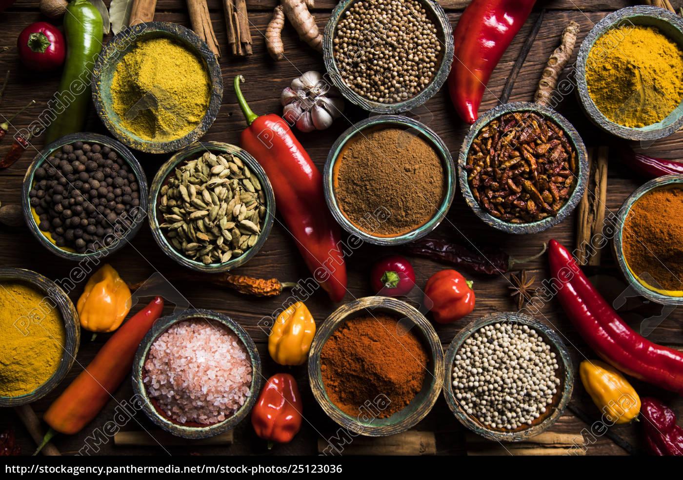 spice, still, life, , wooden, bowl - 25123036