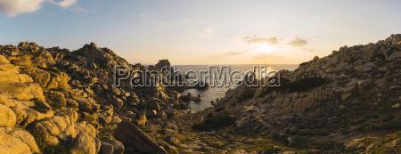 italy sardinia sunset at the coast