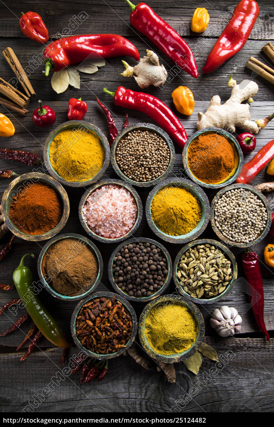 a, selection, of, various, colorful, spices - 25124482