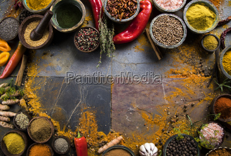 frame, , hot, spices - 25124494