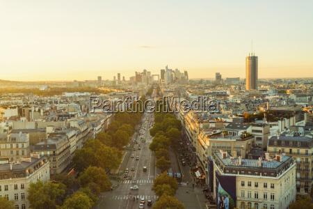 france paris view to the city