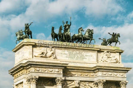 italy lombardy milan arco della pace