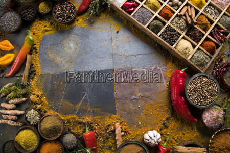 frame, , hot, spices - 25126374