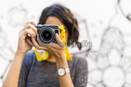 close up of woman taking a