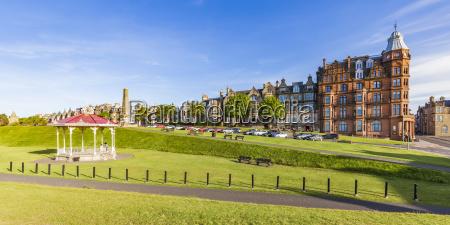 scotland fife st andrews waterfront promenade