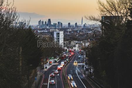 uk london panoramic view of the