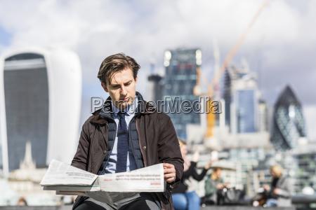 uk london portrait of serious businessman