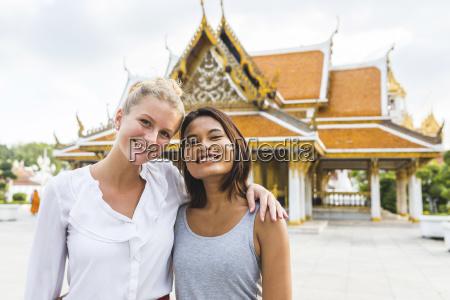 thailand bangkok portrait of two smiling