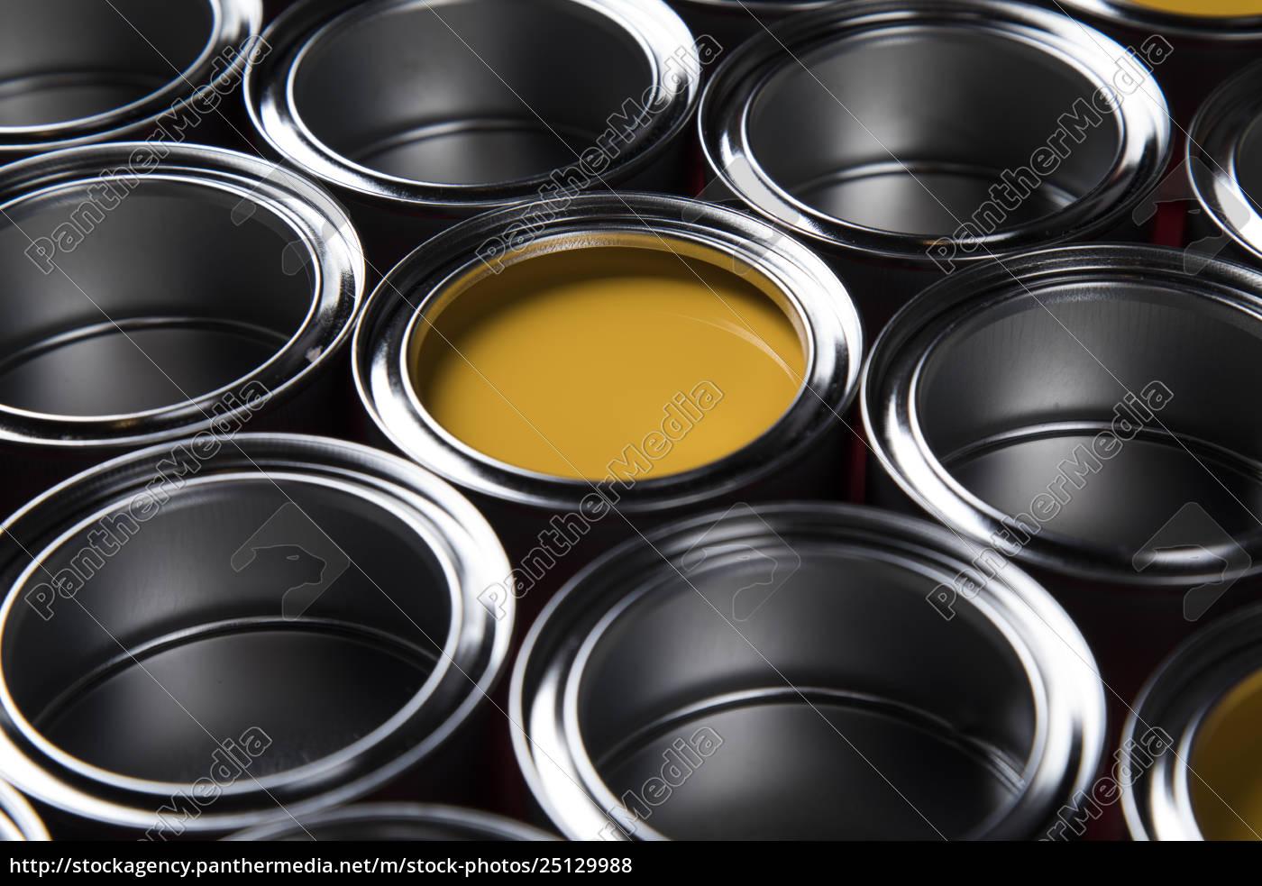 metal, tin, paint, cans - 25129988