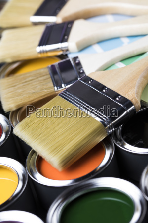 paint, brush, , tin, can, and, color - 25129994