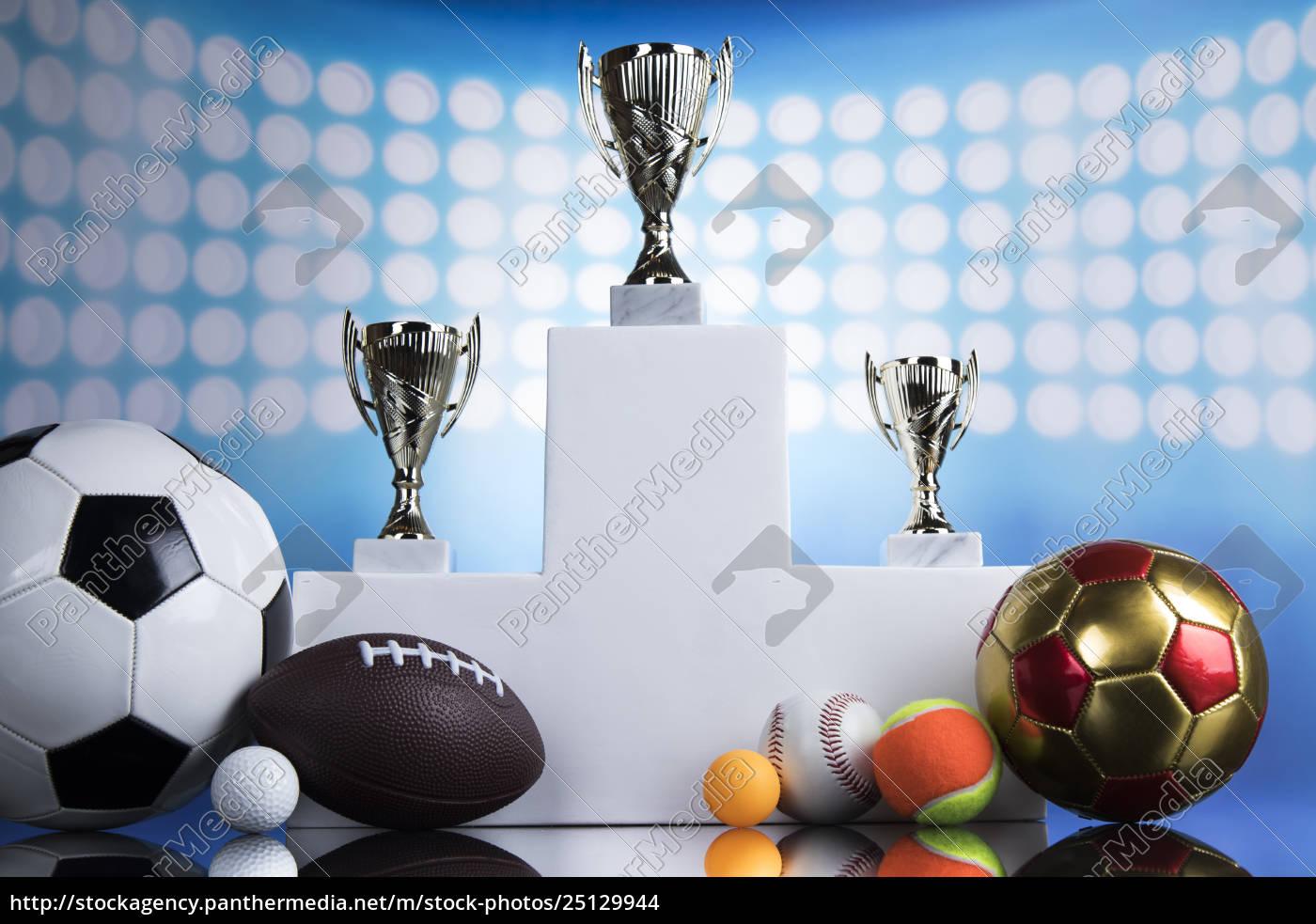 sport, podium, , cups, of, winners, award - 25129944