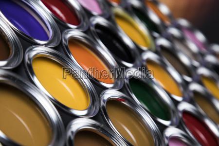 colorful, paint, cans, set - 25130908