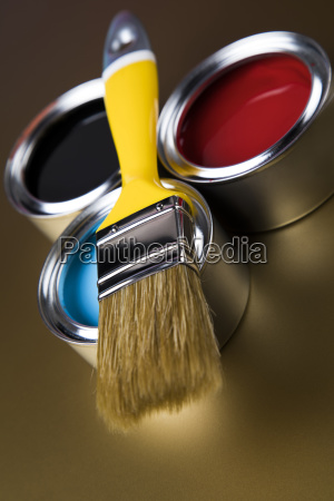 tin, metal, cans, with, color, paint - 25130900