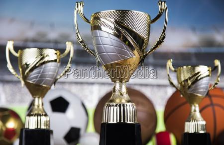 trophy, winning, , sport, ball, background - 25130944